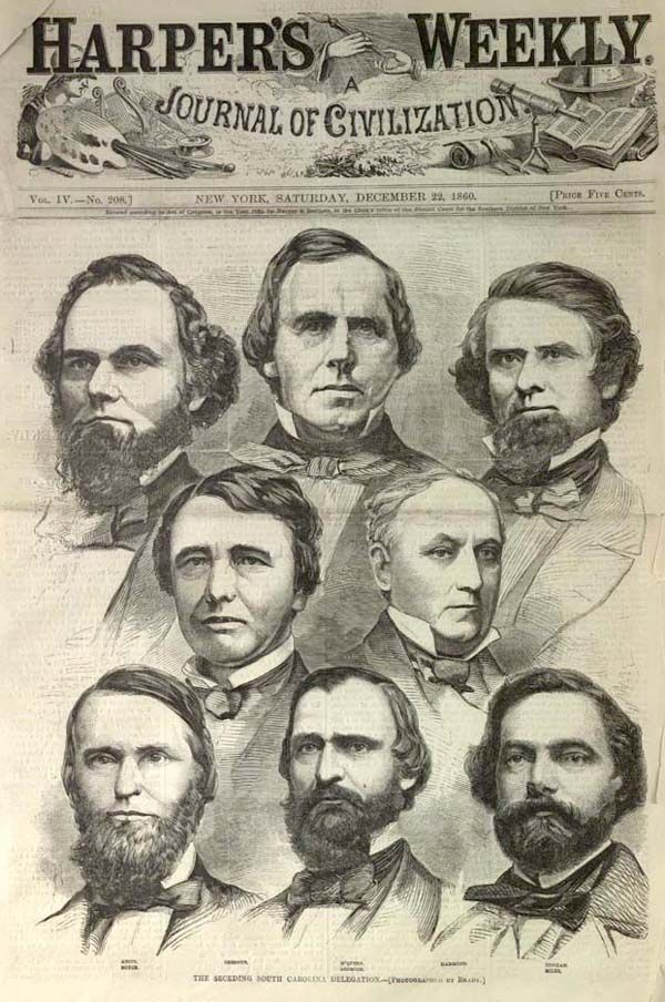 Google Image Result Jefferson Davis South,Carolina secedes from the Union December 20,1860