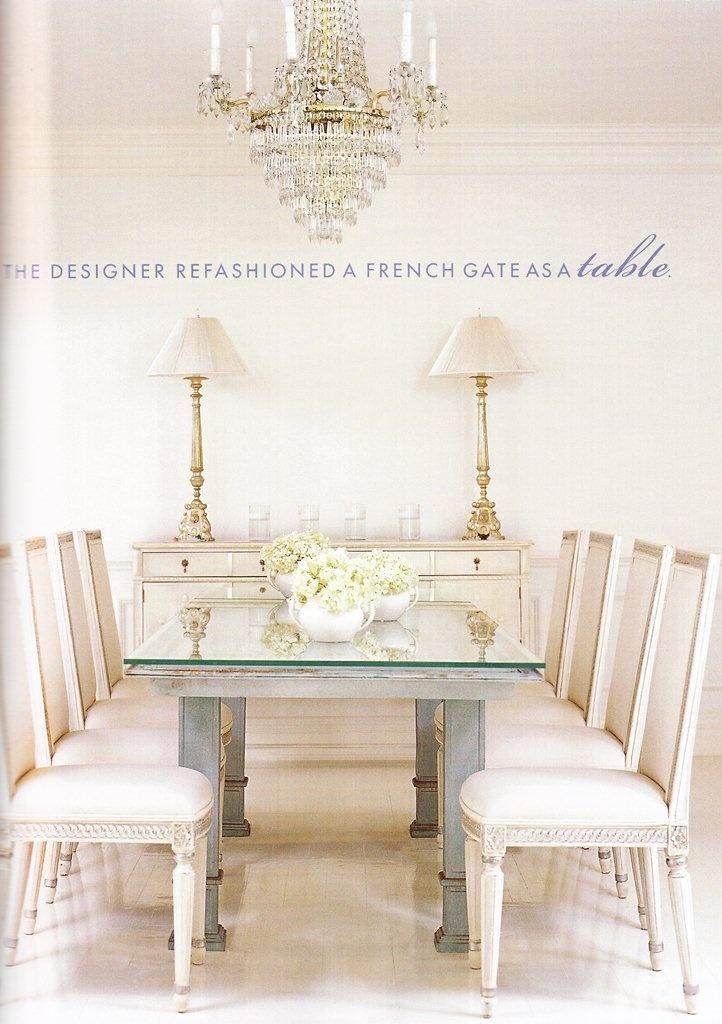 White dining room.