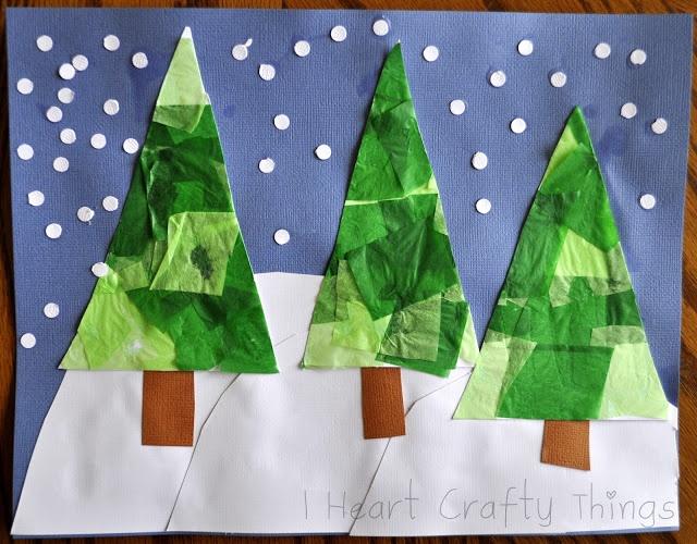 I Heart Crafty Things: Christmas Tree Scene