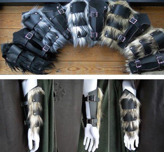 Paar Armschienen für Zwerg Cosplay Krieger Kostüm