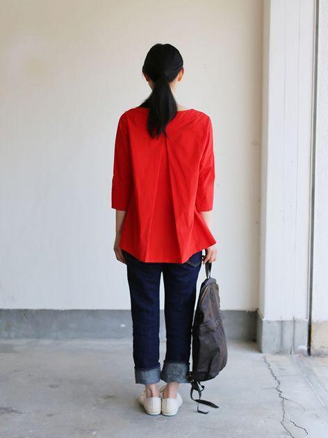 Big tuck blouse/SP slim 5pocket pants  5