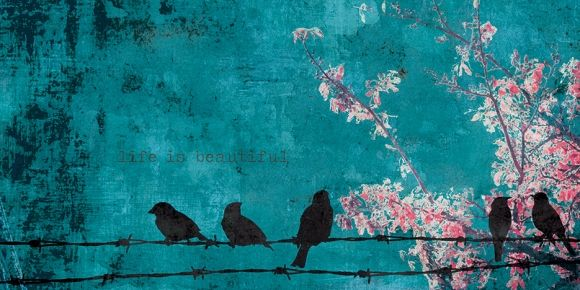 Turkos tavla | snygga tavlor | shabby chic | stora xl canvastavlor | avlånga långa tavlor