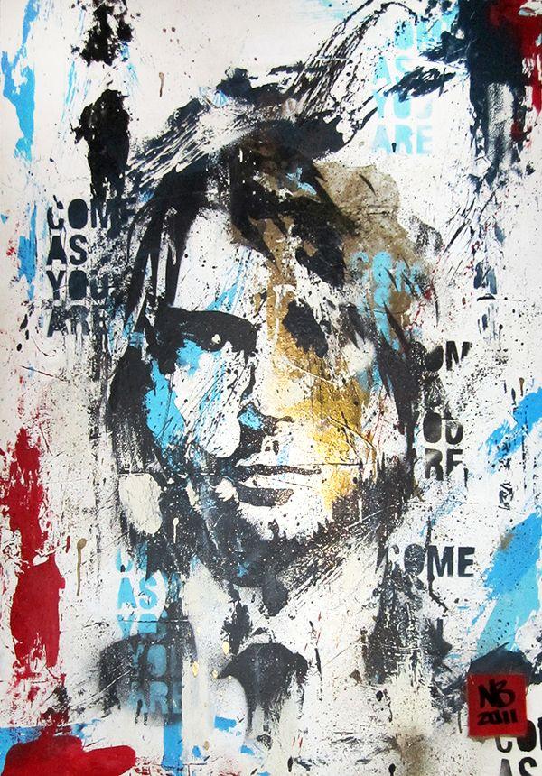 Kurt cobain picture art Nirvana