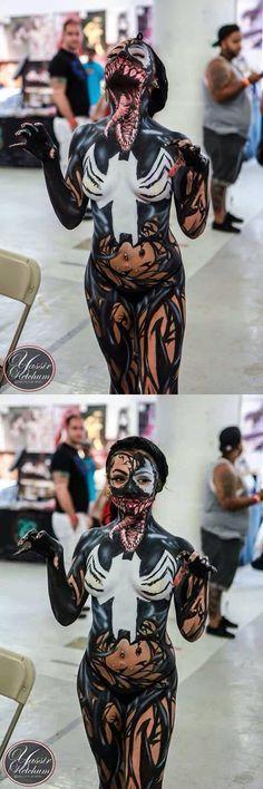 Cool venom cosplay.