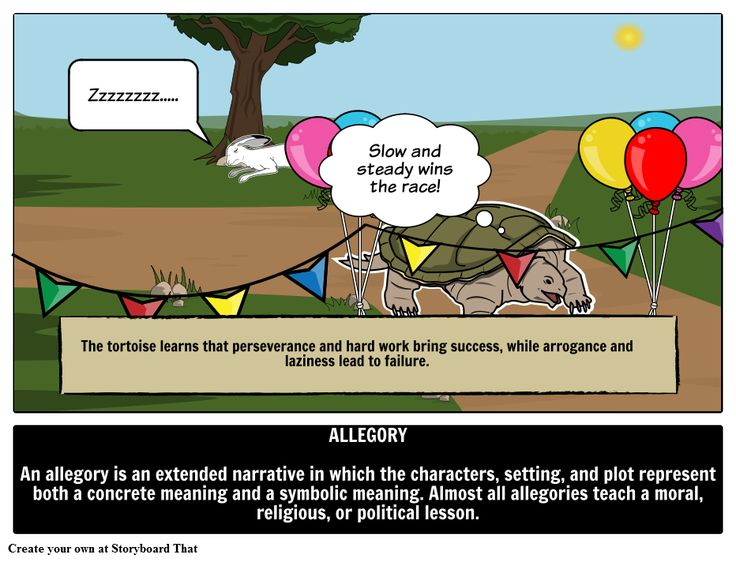 Define Allegory is one of the more challenging literary terms. Find allegorical definition, examples of allegory in literature, and storyboard picture of allegory definition.