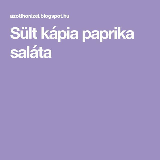 Sült kápia paprika saláta