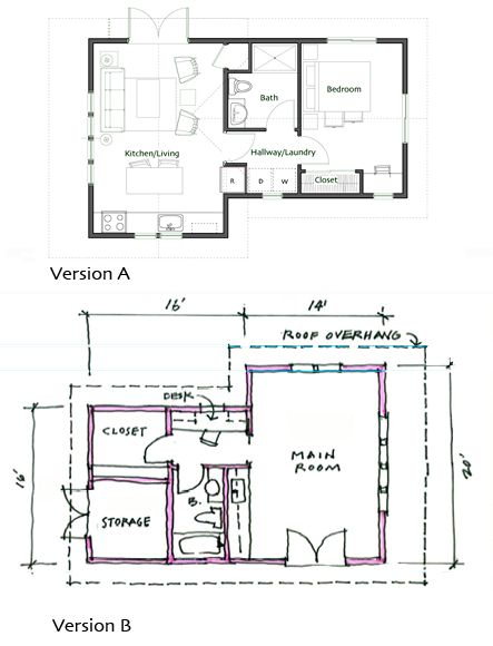199 best images about floor plans on pinterest cabin for Backyard cottage floor plans