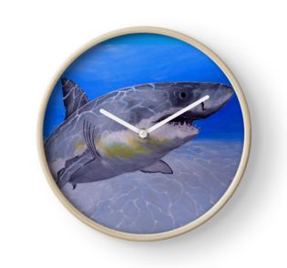 Gifts for animal, shark, lovers, Wall Clock