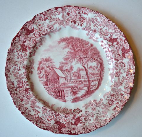 Red and White Toile Plates  sc 1 st  Pinterest & 105 best Red Toile images on Pinterest | Canvases Toile and Dish sets