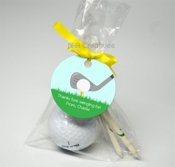 Personalized Golf Favor Tag DIY Printable Digital by NHACreatives