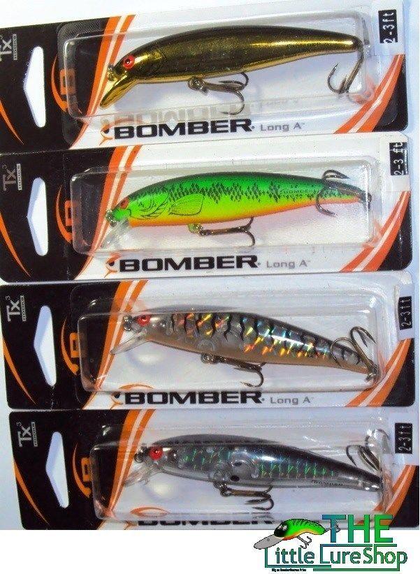 4x Bomber B14 Long A Fishing Lure Gold Fire Tiger Prism Blck Barra Jack Bass Cod