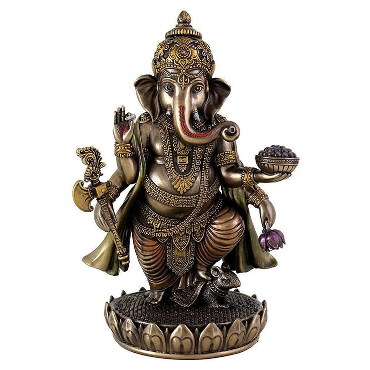 75 Inch Standing Ganesh Statue Figurine Cold Cast Bronze Colored Visit The Image Link More Details Find This Pin And On Traditional Indian Wedding