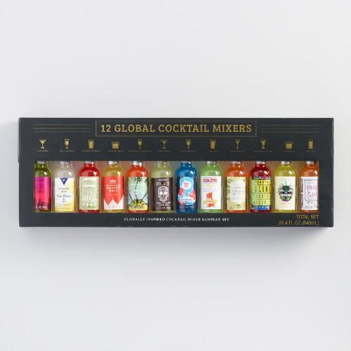 One of my favorite discoveries at WorldMarket.com: Coastal Cocktails Global Cocktail Mixer Set 12 Count