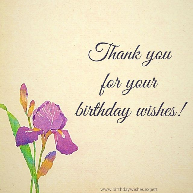 62 best thank you for birthday wishes images on pinterest thank you for your birthday wishes m4hsunfo