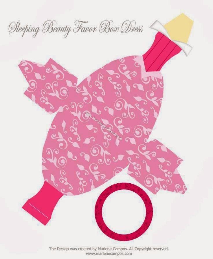 Cute Free Printable Sleepy Beauty Party Favor Box.