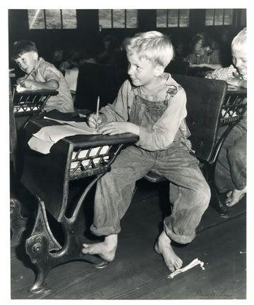 Coal miner's child in grade school. Lejunior, Harlan County, Kentucky 1946,