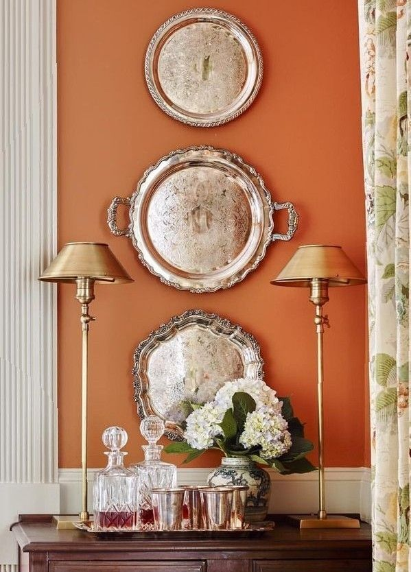 Pin By Annie On Autumn Home In 2020 Orange Dining Room Orange Rooms Orange Decor