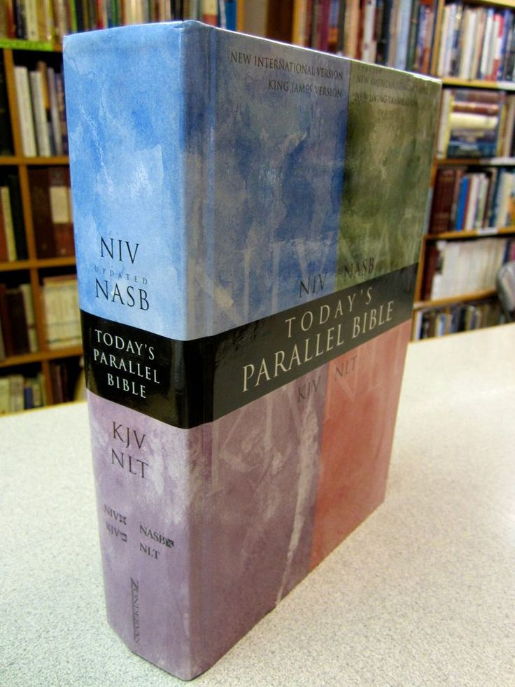 TODAY'S Parallel Bible NIV 1984 Text NASB KJV NLT Hardcover with dust jacket