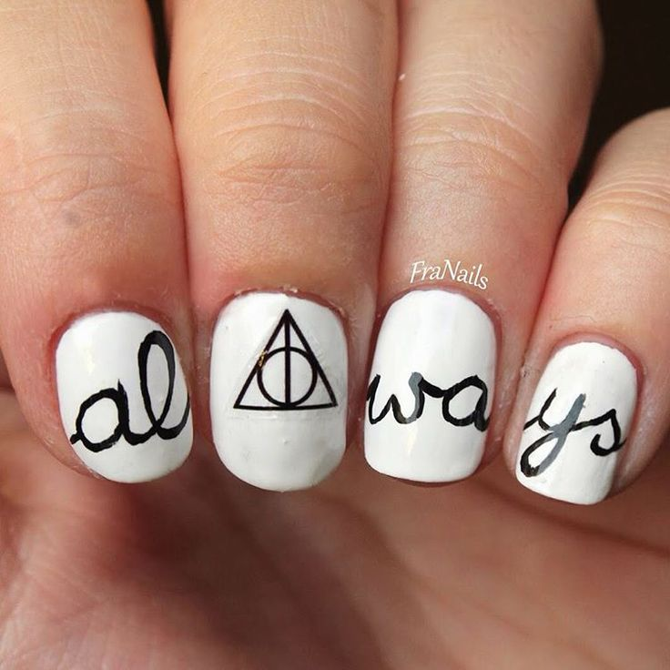 21 Harry Potter Nail Art Designs That Will Leave You Spellbound