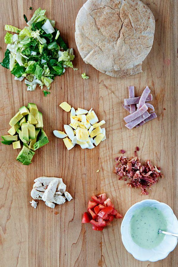 Stuff It {Recipe: Cobb Salad Stuffed Pita Pockets}