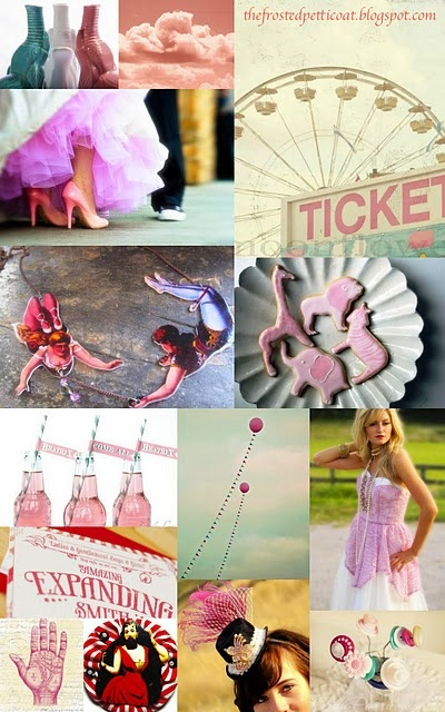 """Cotton Candy Carnival"" - pink circus wedding inspiration by The Frosted Petticoat"