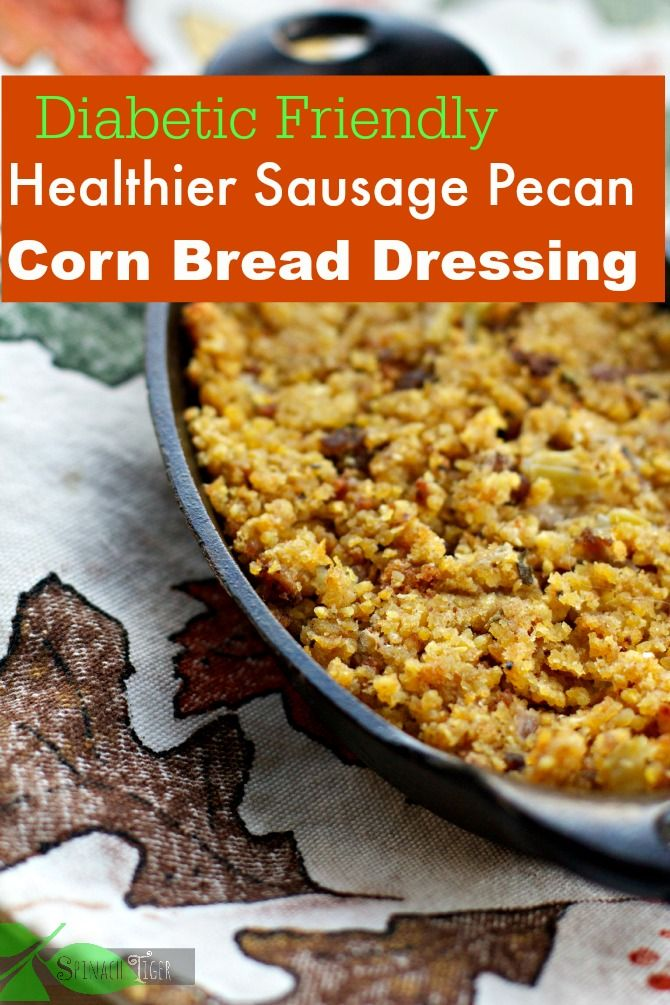 Healthier Cornbread Dressing with Homemade Cornbread, Low Glycemic Recipe