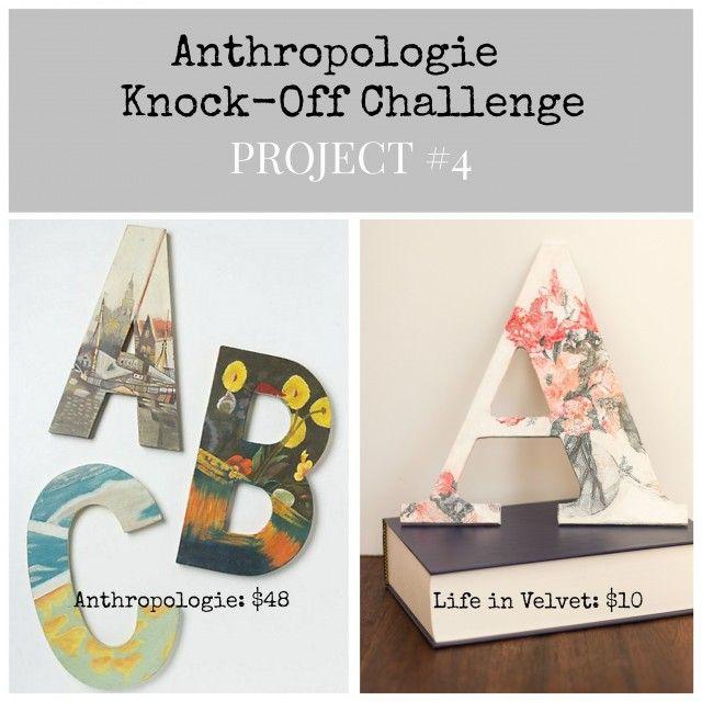Anthropologie Inspired Still Life Monogram