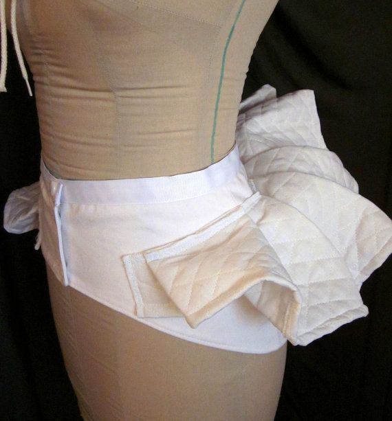 Victorian Bustle Pillow Skirt Support Bum Roll by redthreaded
