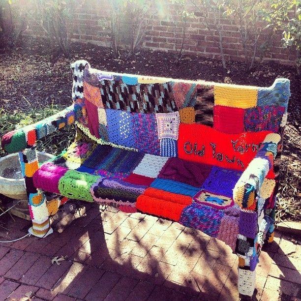 yarn bombing bench - photo #30