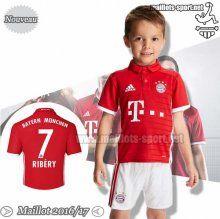 Promo:Flocage Ribery 7 Maillot Foot Bayern Munich Bordeaux/Blanc Enfant 2016-2017 Domicile | Maillots-Sport
