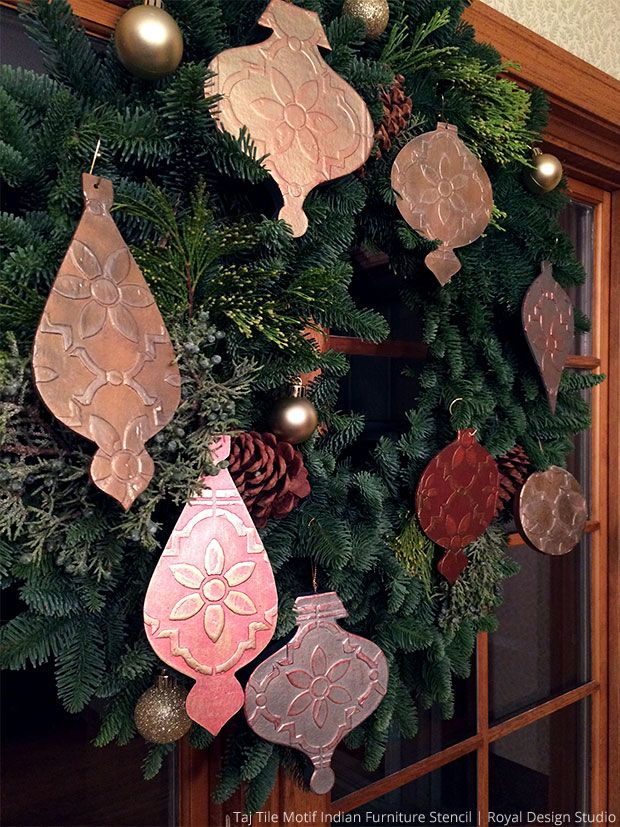 92 best DIY Christmas Decor Stencil Ideas images on Pinterest