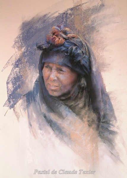 Claude Texier Ethnic Portrait 66 x 45 pastel