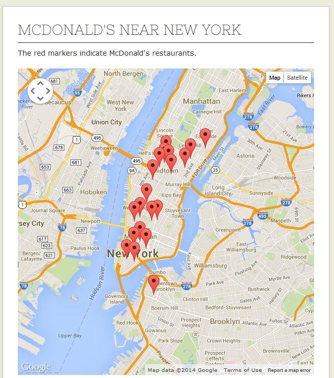 Mcdonalds Locator - Find a McDonalds close to you!