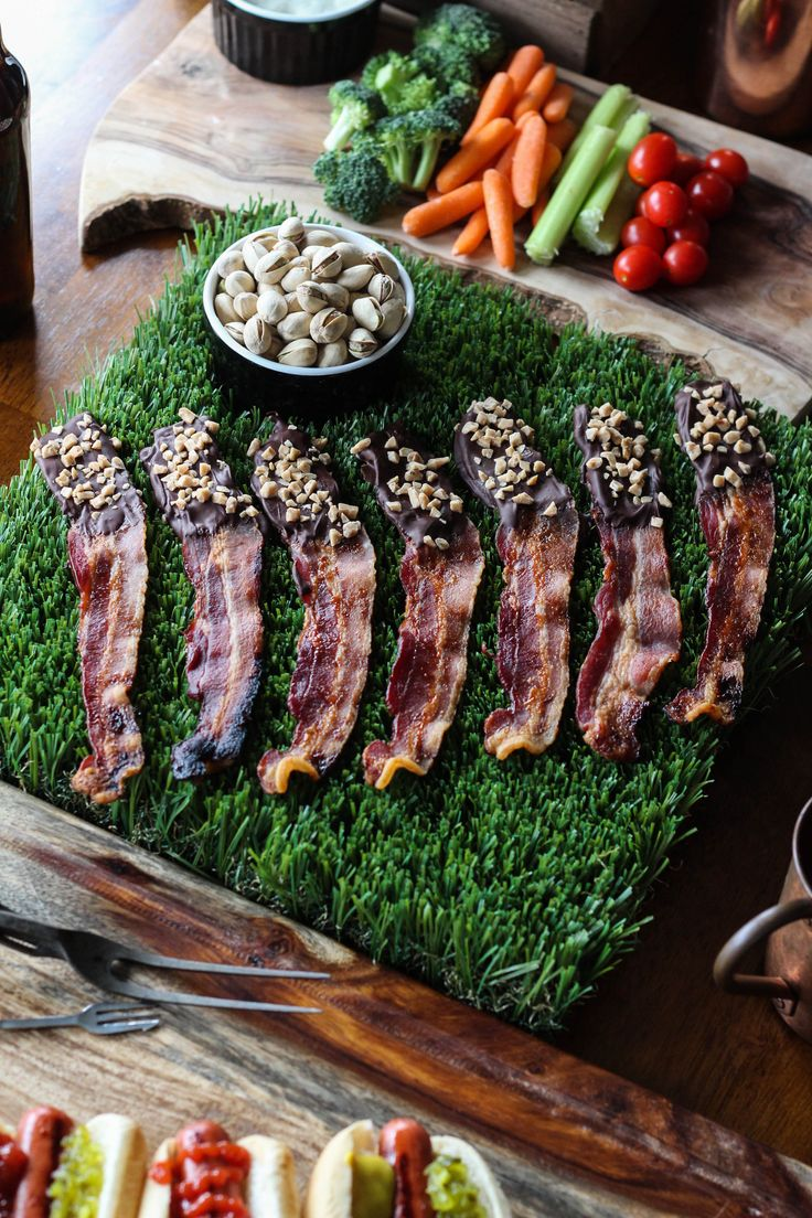 Get ready for game day with my snack hack for Hickory Smoked Chocolate Toffee Bacon. Easy to make and heavenly to eat, it'll elevate your tabletop tailgating game! Sponsored by Tyson Foods, Inc. #fanfoodleague