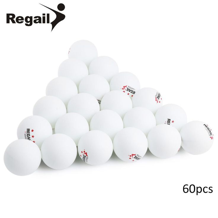 REGAIL 60pcs 5g/pcs Stand Table Tennis Balls 3 star 40mm Practice Table Tennis Balls Tough Sports Entertainment Ping Pong Ball