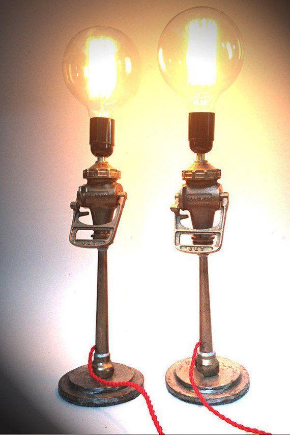 French Vintage Fire Hose Nozzle Lamp Etsy Lamp Vintage Bulb Novelty Lamp
