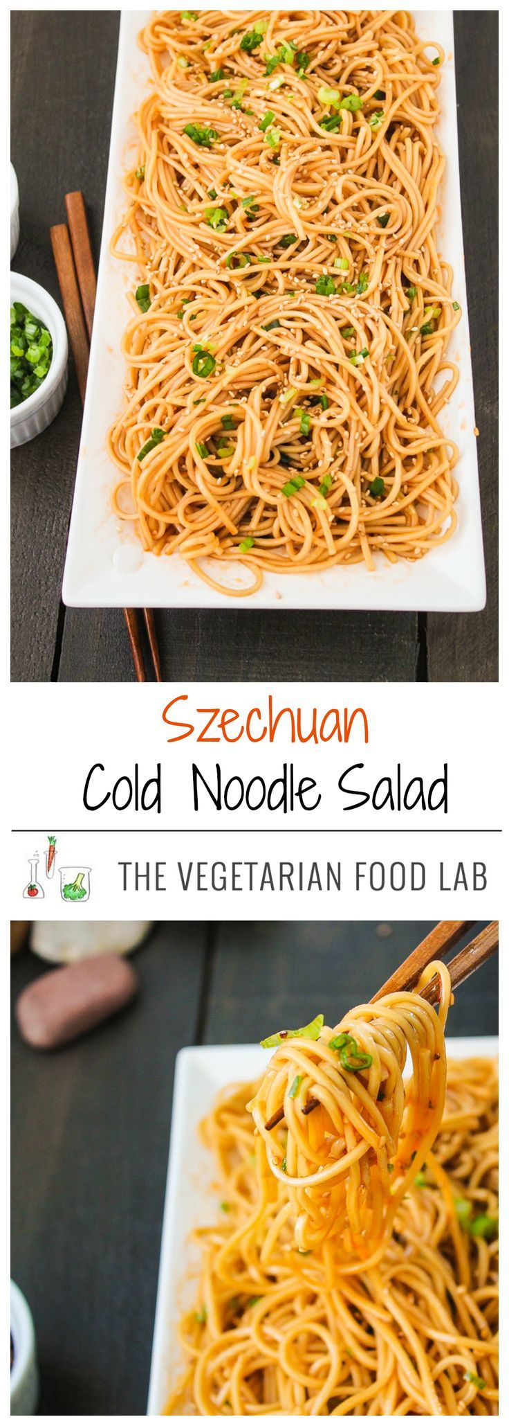 Szechuan Cold Noodle Salad. Spicy and satisfying!