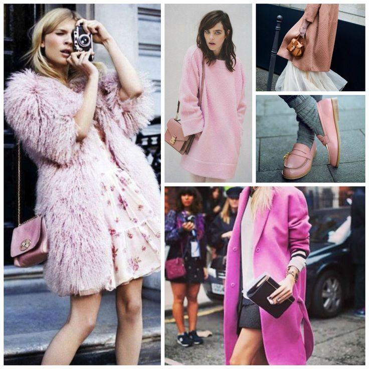 La tendencia a los tonos rosados, desde los mas intensos a los pasteles, en todas sus variantes es un Clasico que siempre vuelve. Ultrafemenino, la clave es elegir el color que se adapta a tu tono de piel, o adoptarlo en accesorios.