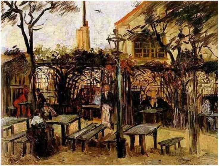Terrace of a Cafe on Montmartre (La Guinguette), Vincent van Gogh (1886).