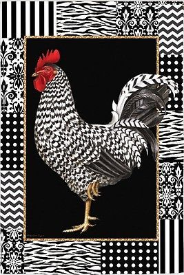 ROOSTER-LE-COQ-French-Country-Style-Rooster-Evergreen-Decorative-House-Flag
