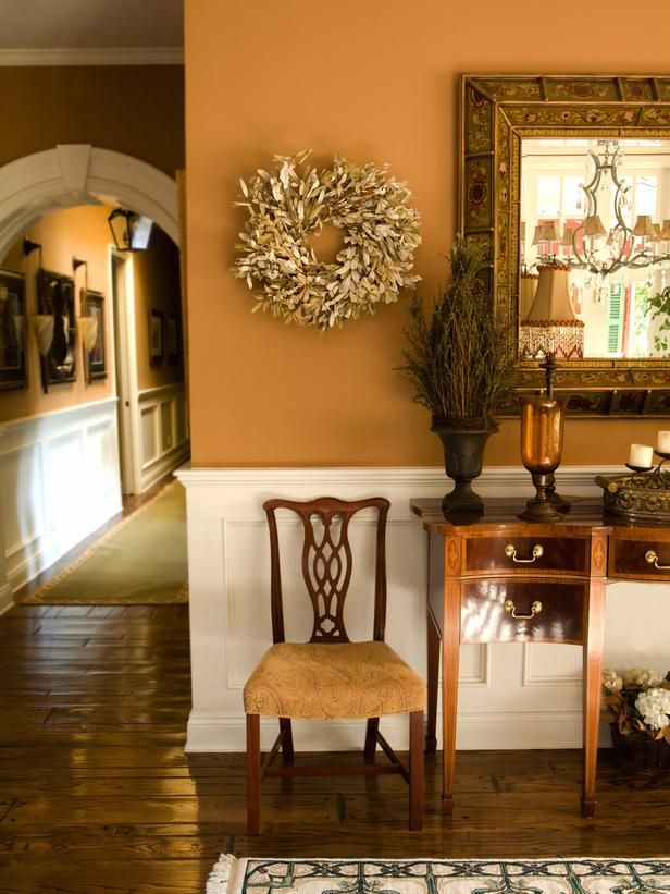 Fall Makeover: Foyer - Fall Decorating Ideas: Simple Ways to Cozy Up on HGTV