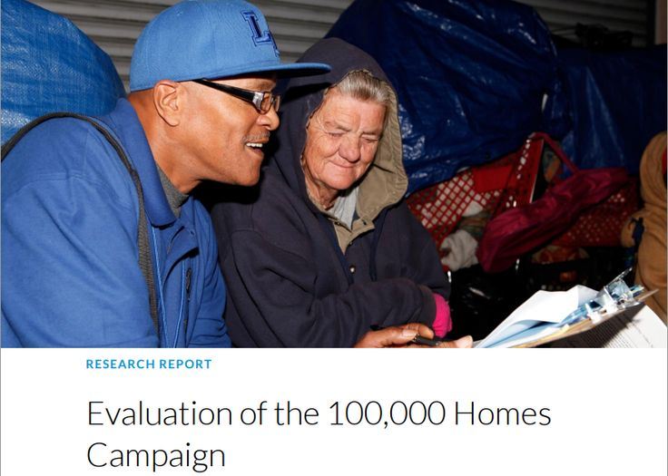 Evaluation of the 100,000 Homes Campaign #USA #HousingFirst