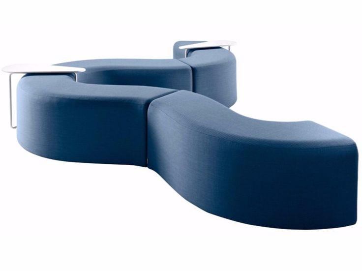 Acheter en ligne Churros in by Chairs & More, banc rembourré modulable en tissu design Kazuko Okamoto, collection Churros