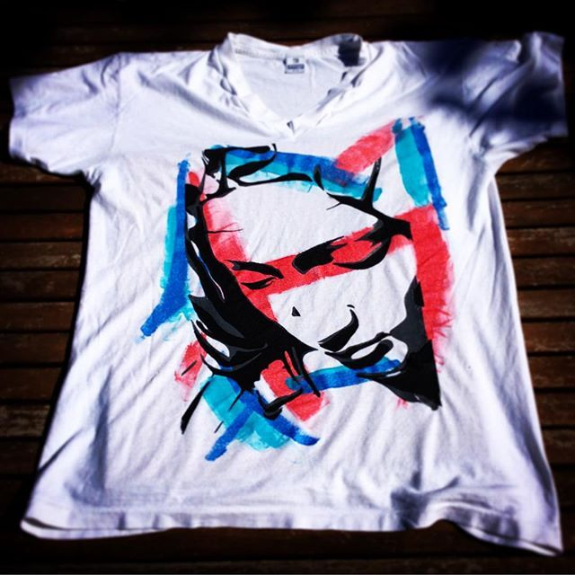 The Good Mood Factory_ Screen Printing test dedicated to France and to the fight against terrorism.