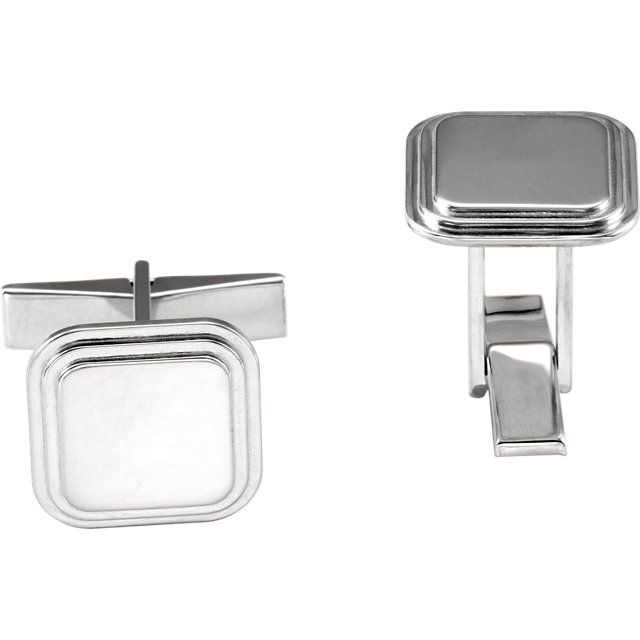 Sterling Silver Engravable Cuff LinksCuf | Cufflinks from Enchanted Jewelry | Danielson, CT