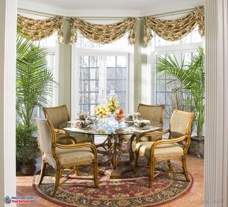 transom window treatments | swags in the bay window.  Design by?  Please let me know if this is your design.