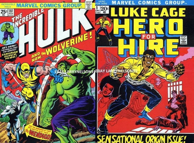 INCREDIBLE HULK #181 POSTER LUKE CAGE HERO FOR HIRE 1 WOLVERINE POWER MAN MARVEL