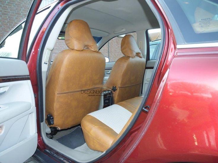 VOLVO S80 Autositzbezüge nach Maß in der Lederlook & Textil MIX Variante. Auf der Rückseite der Vordersitze bleiben die Sitztaschen weiterhin erhalten. Die helle Innenausstattung soll für die nächsten Jahre gepflegt werden und vor Abnutzung geschützt werden. www.designbezuege.de #designbezuege #designbezuege nach maß #VOLVO, #Sitzbezüge, #TUNING