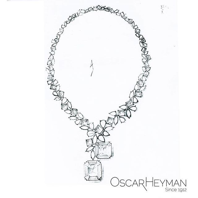 With two 50+ct diamonds, this was called The Big Necklace. One was yellow and the other white.  #OscarHeyman #necklace #gemstone #wow #canary #couture