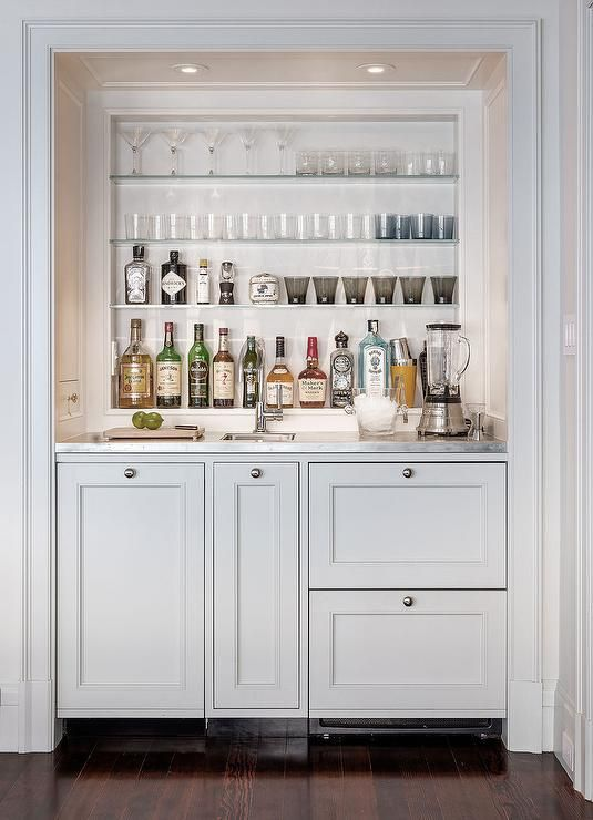 Cabinetry painted in Smoke Embers Benjamin Moore.